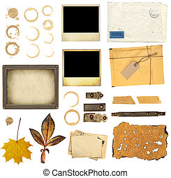 Collection elements for scrapbooking
