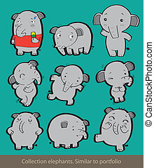 collection elephants.