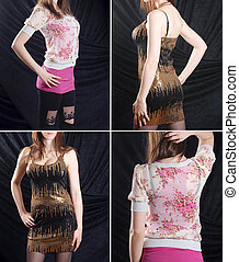 collection, -, femmes, mode