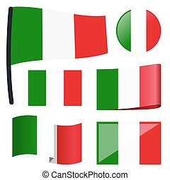 collection flags Italy