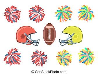 collection., football americano