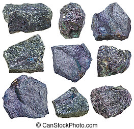 collection from specimens of Bornite mineral