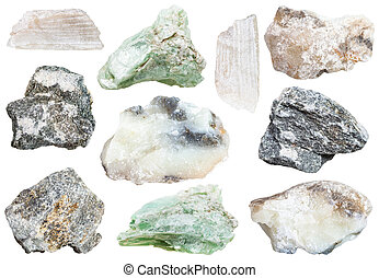 collection from specimens of talc and soapstone (steatite, ...