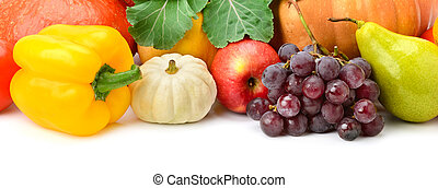 Collection fruit and vegetables