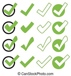 collection green check marks