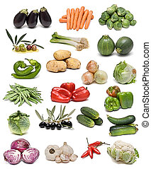collection., groentes