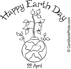 Collection Happy Earth Day design