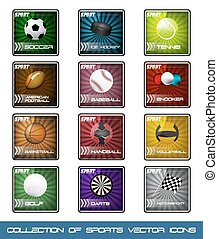 Collection icons of popular sports