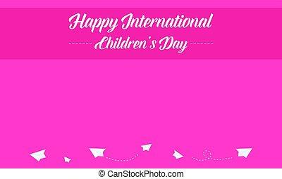 Collection international children day style banner
