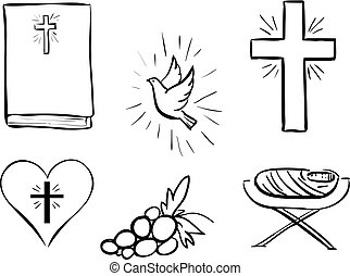 collection, noël, icônes, cristian