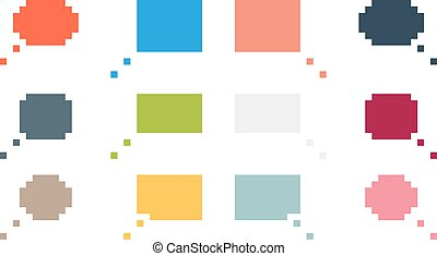 Collection of 12 colorful isolated