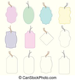Collection of 12 gift labels