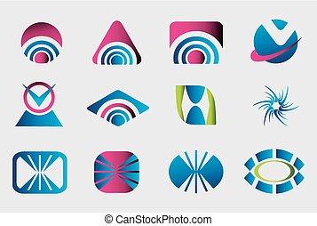 Collection of 12 logo design