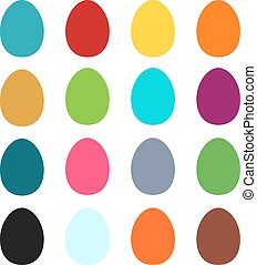 Collection of 16 simple colorful Ea