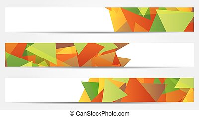 Collection of 3 abstract colorful banners