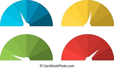Collection of 4 isolated colorful s