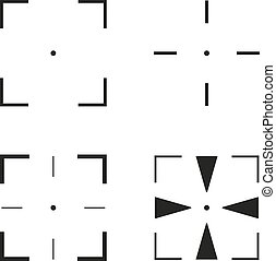 Collection of 4 isolated square cro