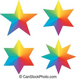 Collection of 4 isolated stars with