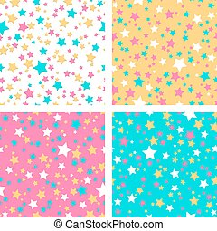 Collection of 4 seamless textures