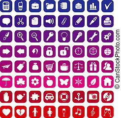 Collection of 64 vector icons