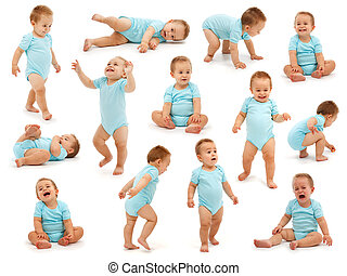 Collection of a baby boy\'s behavior