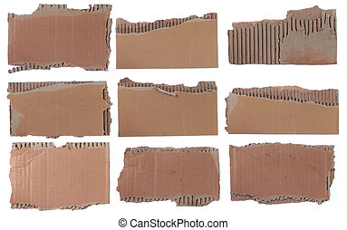 collection of a cardboard pieces