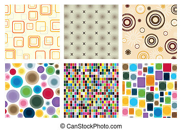 Collection of abstract and mosaic structures. A vector illustration