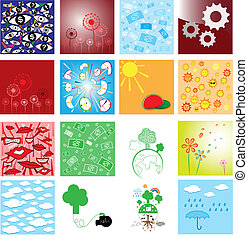 Collection of abstract background vector