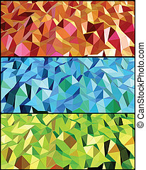 Collection of Abstract backgrounds with triangle. Vector