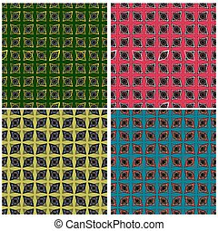 collection of abstract color pattern in retro style