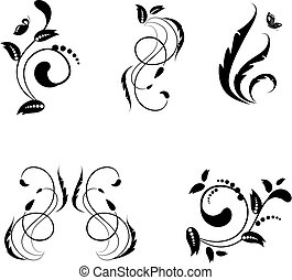 collection of abstract floral patterns for your design