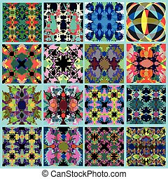 collection of abstract geometrical backgrounds grunge effect vector illustration