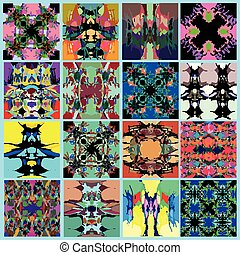 collection of abstract geometrical backgrounds vector illustration