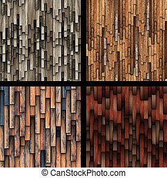 collection of abstract wooden planks texture