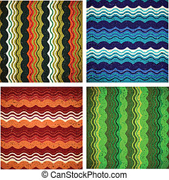 Collection of aged wavy patterns