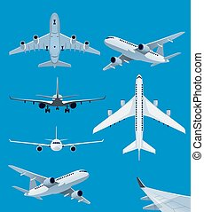 Collection of airplane illustrations
