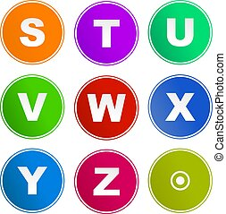 alphabet sign icons - collection of alphabet sign icons...
