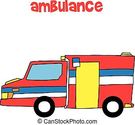 Collection of ambulance vector art
