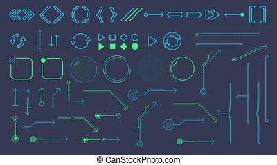 Collection of animated infographic elements and arrows - A...