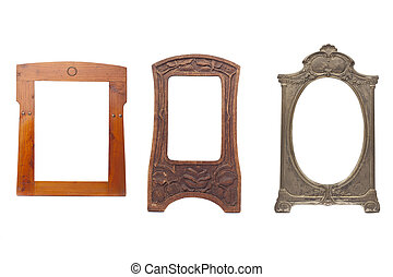 Collection of antique wooden frame