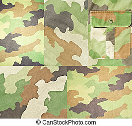 Collection of army and military backgrounds and textures