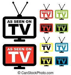 as seen on TV - Collection of as seen on TV icon with...