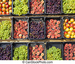 collection of assorted fruits on the market