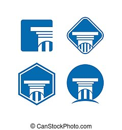 Collection of attorney at law logo and icon template vector