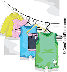 collection of baby designs for baby arrival, cards and background