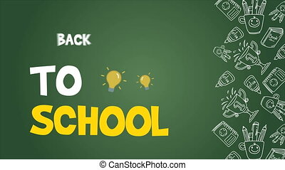 Collection of back to school animation