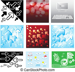 Collection of background vector