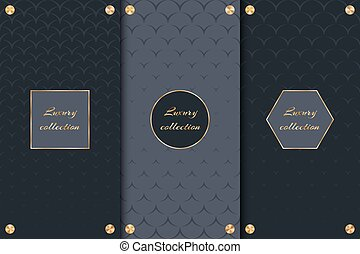 Collection of backgrounds for luxury goods - A set of chic...