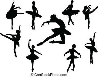 ballerinas silhouette - Collection of ballerinas silhouette...