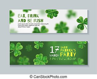 Collection of banners for St. Patrick's Day.